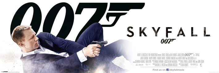 James Bond_Bond in Dust_Skyfall_Door Poster